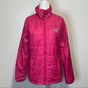 The North Face Pink Zip Up Coat size Small